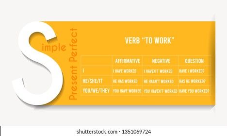 "English grammar - verb ""to work"" in Present Perfect Simple Tense."