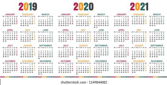Calendar 2020 Summer Spring Summer 2020 Images, Stock Photos & Vectors | Shutterstock