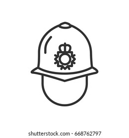 English police helmet