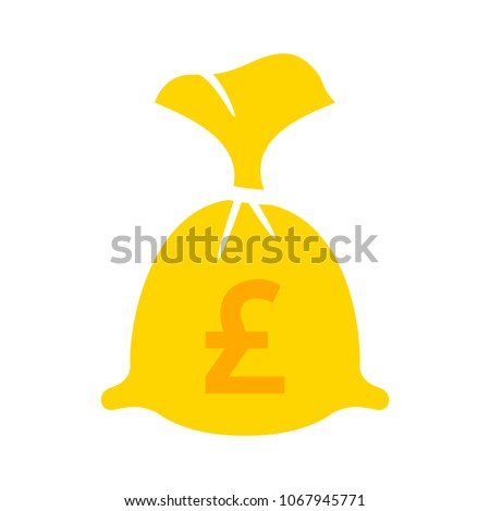 English Pound Money Bag Illustration