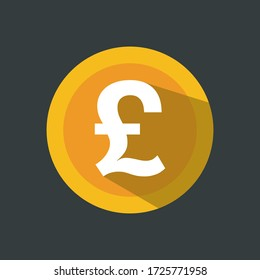 english pound sign icon. Currency sign - money symbol.