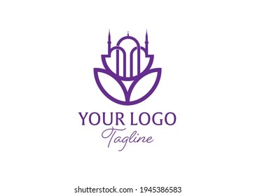 English Translate: Ramadan logo design template