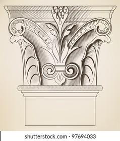 Engraving column