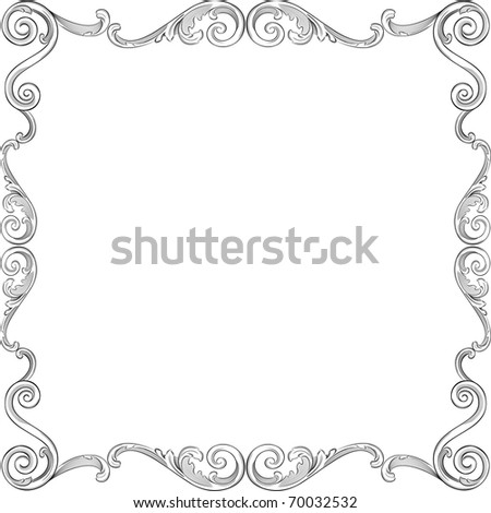 Engraving Pattern Nice Frame Stock Vector (Royalty Free) 70032532 ...