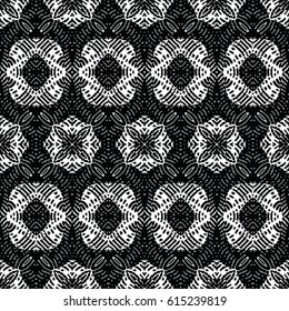 Engraving seamless pattern. The protective layer for banknotes, diplomas and certificates. Vector illustration
