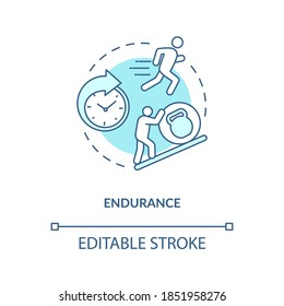Enhance endurance concept icon. Sports energy drinks idea thin line illustration. Body balance. Athletic performance improvement. Vector isolated outline RGB color drawing. Editable stroke