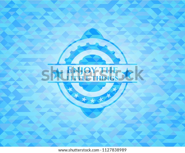 Enjoy Little Things Realistic Light Blue Stock Vector (Royalty Free