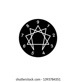 enneagram icon, illustration, symbol vector