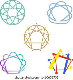 Enneagram logos for the definition of people's psycho