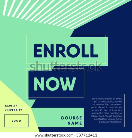 Beautiful Open Enrollment Announcement Template
