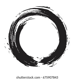 Enso Zen Circle Brush Vector Illustration