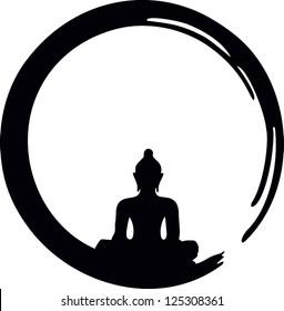 Enso, Zen Circle of Enlightenment / ENSO ZEN / Meditation, Buddha, Buddhism, Japan