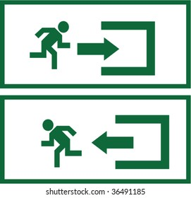 Enter and exit signs