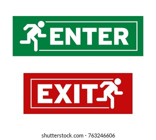 Enter and Exit Symbol