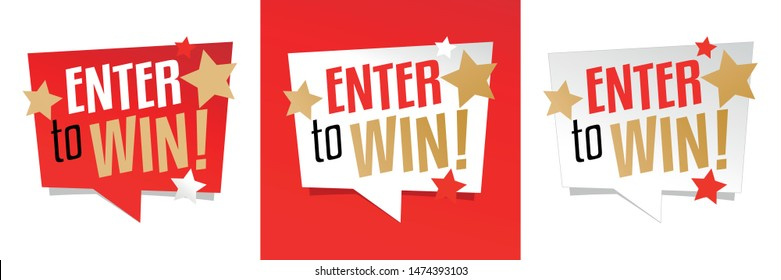 Enter to win ! on speech bubble