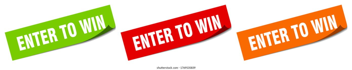 enter to win sticker. enter to win square isolated sign. enter to win label