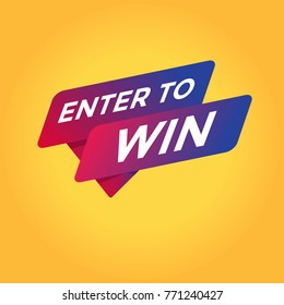 Enter to win tag sign icon.