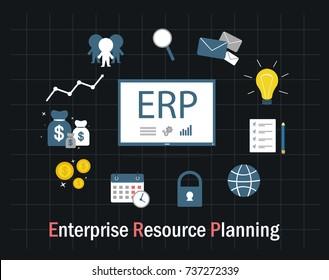 enterprise resource planning illustration vector flat design