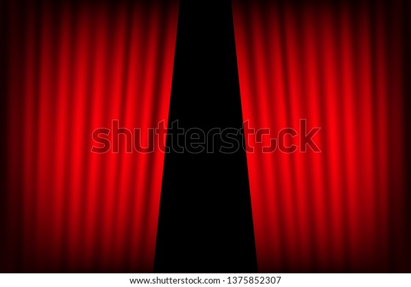 Entertainment Curtains Background Movies Beautiful Red Stock Vector Royalty Free 1375852307