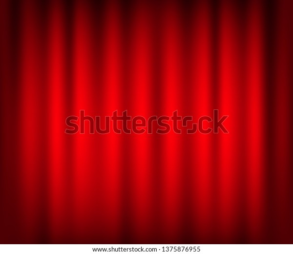 Entertainment Curtains Background Movies Beautiful Red Stock Vector Royalty Free 1375876955