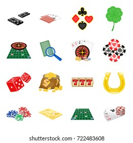 Entertainment, leisure ,deception and other web icon in cartoon style . Win,Fortune, business, icons in set collection.