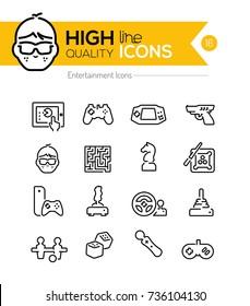 Entertainment Line Icons
