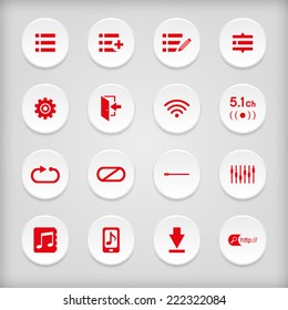 Entertainment music media key knob button icon symbol