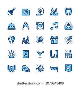 Entertainment, party, corporate event, celebration line icons set. Modern graphic design concepts, simple symbols. Minimal thin line design. Premium quality. Pixel perfect. Vector outline icons