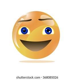 enthusiasm emoticon. Vector illustration