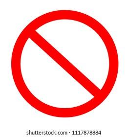 entrance is forbidden sing vector