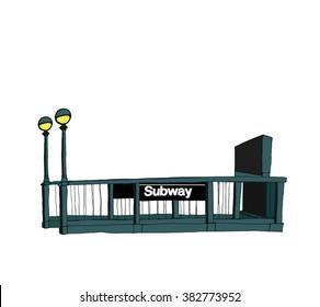 Entrance to New York subway
