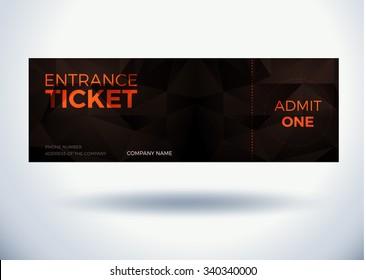 entrance ticket dark template