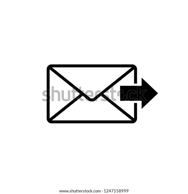 Envelop Icon Editable Vector 64x64 Pixel เวกเตอร์สต็อก (ปลอดค่า