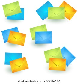 Envelop icons set vector isolated on white