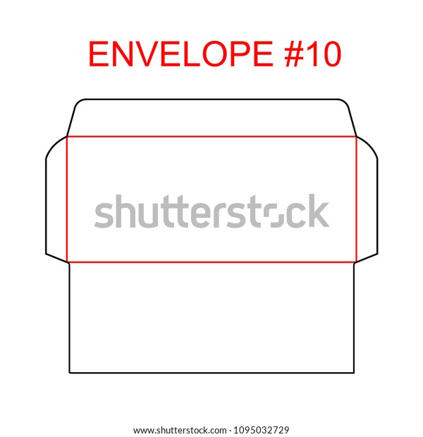 Envelope 10 Die Cut Template North Stock Vector Royalty Free 1095032729