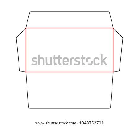 envelope blank die cut template standard stock vector royalty free