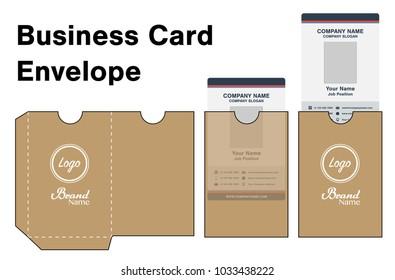 Envelope card die cut mock up template vector