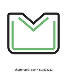 Envelope, closed, message icon vector image. Can also be used for email, communication and messaging. Suitable for mobile apps, web apps and print media.