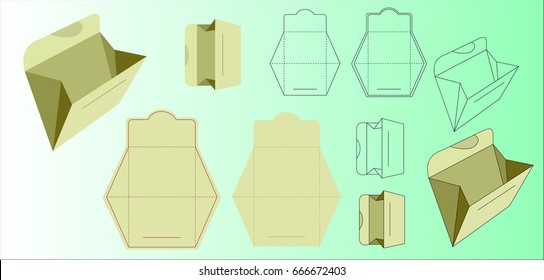 Envelope design. Letter model design.
