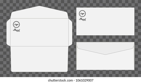 Envelope die cut mock up template Vector illustration.