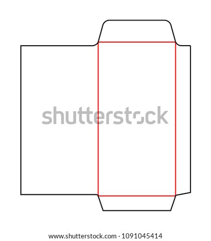 envelope dl pocket size die cut stock vector royalty free