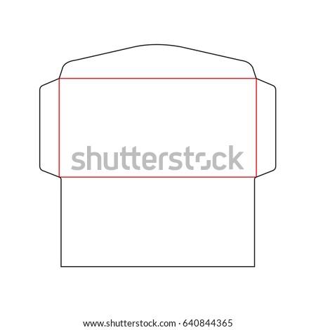 Envelope Dl Size Die Cut Template Stock Vector Royalty Free