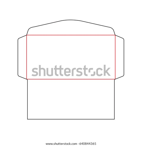 Envelope Dl Size Die Cut Template Stock Vector Royalty Free