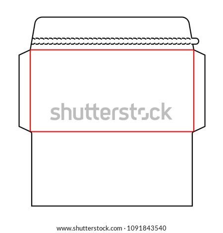 envelope dl size wallet die cut stock vector royalty free