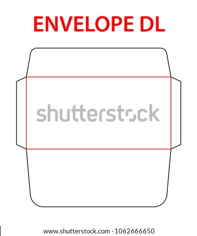 envelope-dle65-size--cut-450w-1062666650 Template Card X In Letter Size on