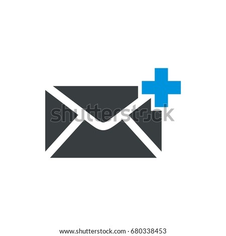 envelope email icon logo template stock vector (royalty free
