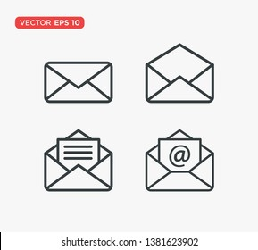 Envelope Icon Flat Vector Illustration
