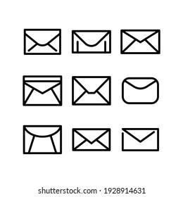 envelope icon or logo isolated sign symbol vector illustration - Collection of high quality black style vector icons