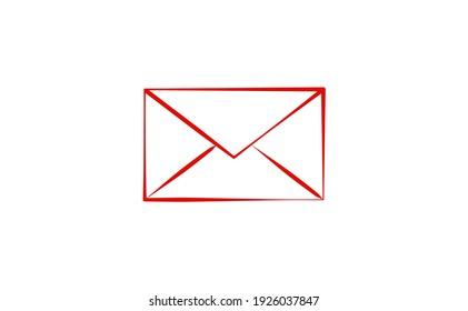 envelope icon. message. letter symbol icon flat vector illustration.