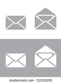 Envelope Icon Set - Vector